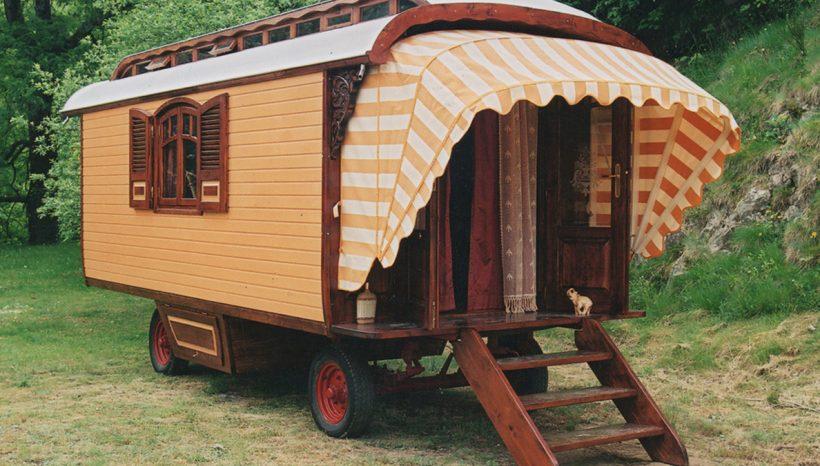 Authentieke woonwagen buitenkant